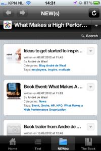 New(s) on the HPO Leadership Toolbox app